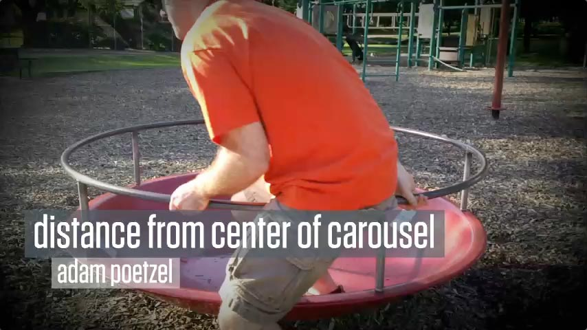Distance from Center of Carousel